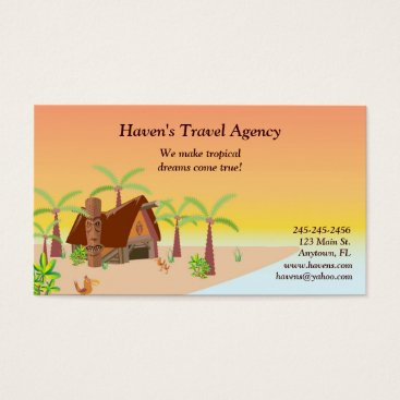 queensbusinesscards Tropical Business Card