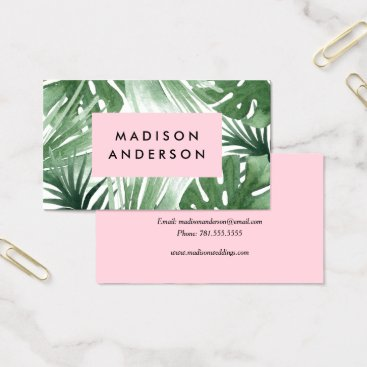 Professional Business Tropical Business Cards