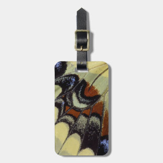 Tropical butterfly close-up bag tag