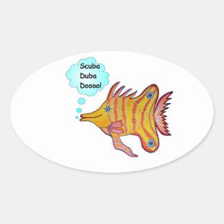 Tropical  Butterfly Fish Cartoon Sticker