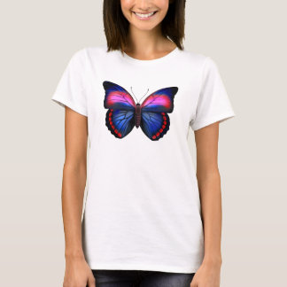 Tropical Butterfly Ladies Baby Doll T-Shirt