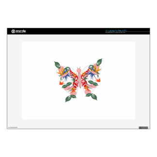 """Tropical Butterfly Decal For 15"""" Laptop"""