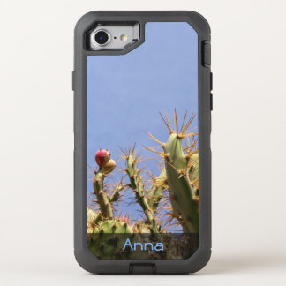 Tropical Cactus Biological Blue Skies any Text OtterBox Defender iPhone 7 Case