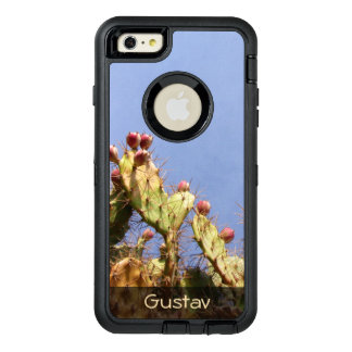 Tropical Cactus Biological Blue Skies any Text OtterBox Defender iPhone Case