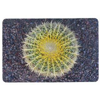 Tropical Cactus on Gravel Green Yellow Floor Mat