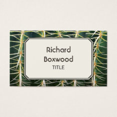 Tropical Cactus Photo Customizable Business Card at Zazzle