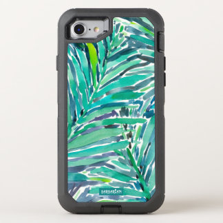 Tropical Canopy Palm Jungle Watercolor Print OtterBox Defender iPhone 8/7 Case