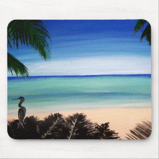 Tropical Caribbean Beach Island Mouse Pad Art