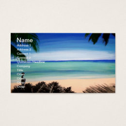 Tropical Caribbean Beach island view Business Card