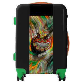 Tropical Carnival Cat Luggage
