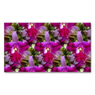 Tropical Cattleya Orchid Flower Business Card Magnet