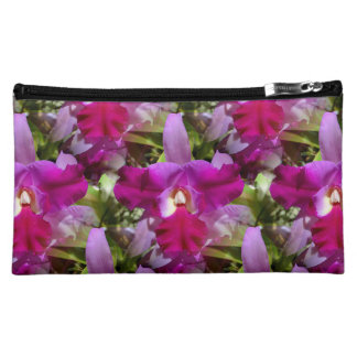 Tropical Cattleya Orchid Flower Cosmetic Bag