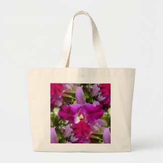 Tropical Cattleya Orchid Flower Large Tote Bag