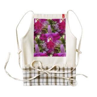 Tropical Cattleya Orchid Flower Zazzle HEART Apron