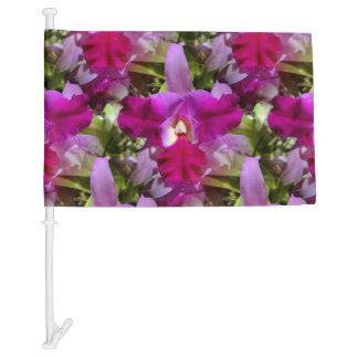 Tropical Cattleya Orchid Flower Car Flag