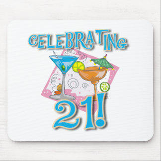 Tropical Celebrating 21 Mouse Pad