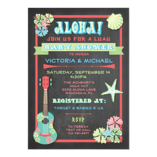 hawaiian baby shower invitations & announcements | zazzle, Einladung
