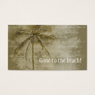 Tropical Change of Address Business Card