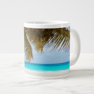Tropical Chilling Beach Scene Giant Coffee Mug