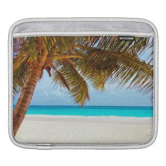 Tropical Chilling Beach Scene iPad Sleeve