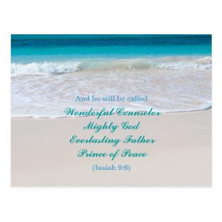Tropical Christian Christmas Affordable Postcard