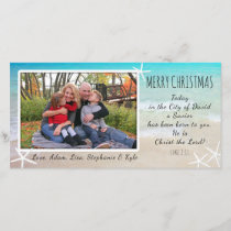 Tropical Christmas Beach Christian Photo Card