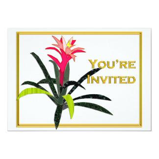 Tropical Christmas Bromeliad Card
