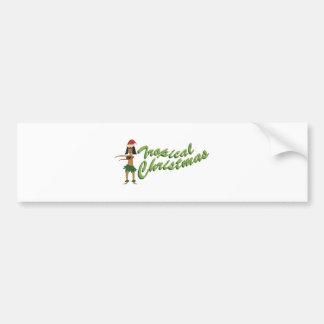 Tropical Christmas Bumper Sticker