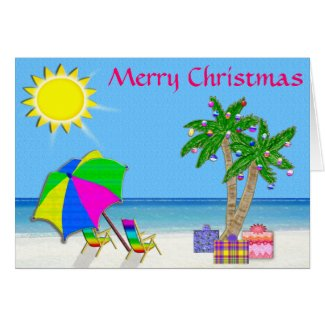Tropical Christmas Cards, Cheerful Original Design
