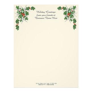 Tropical Christmas Customer Greeting Text Letterhead