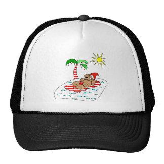 Tropical Christmas Dog Gift Trucker Hat