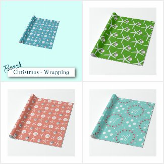 Tropical Christmas Gift Wrap & Bags