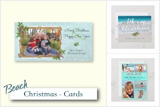 Tropical Christmas Greeting Cards