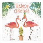 Tropical Christmas Invitation