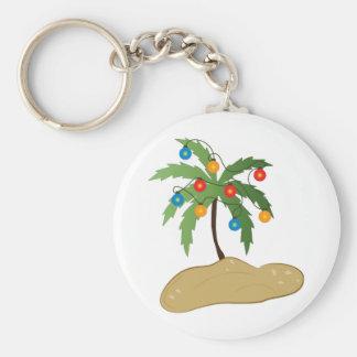 Tropical Christmas Key Chain