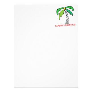 Tropical Christmas Letterhead
