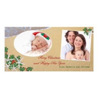 Tropical Christmas Multi-Photo Family Card