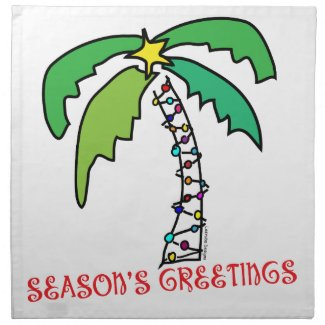 Tropical Christmas cloth napkins
