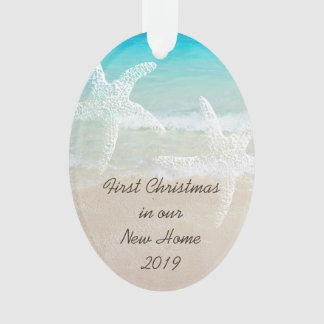 Tropical Christmas New Home Coastal Theme Ornament