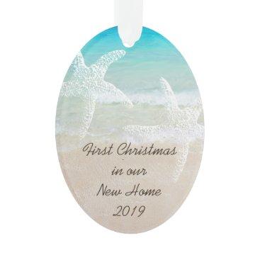 Christmas Themed Tropical Christmas New Home Coastal Theme Ornament