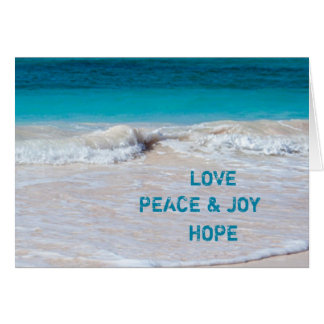 Tropical Christmas Ocean Water Peace Cards
