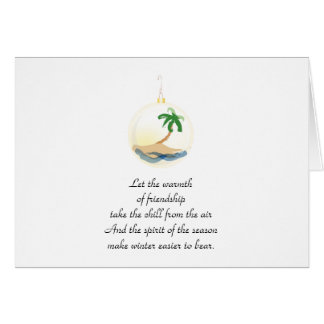 Tropical Christmas Ornament Holiday Invitation
