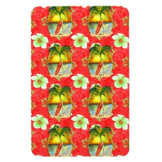 Tropical Christmas Palm Tree Magnet