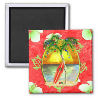 Tropical Christmas Palm Tree Magnet