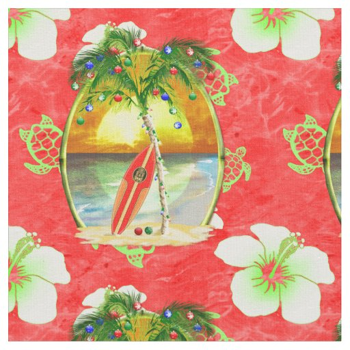 tropical christmas trees tropical christmas palm trees fabric zazzle 4199