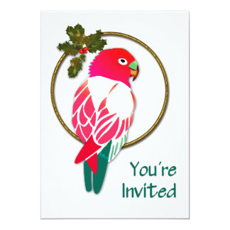 Tropical Christmas Parrot Card