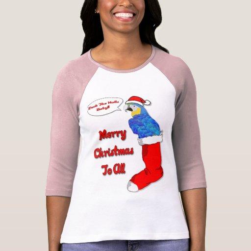 Tropical Christmas Parrot Tshirt