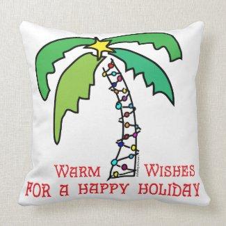 Tropical Christmas Pillow