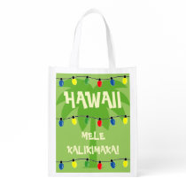 Tropical Christmas shopping bag Mele Kalikimaka