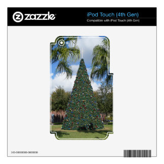Tropical Christmas Skins For iPod Touch 4G